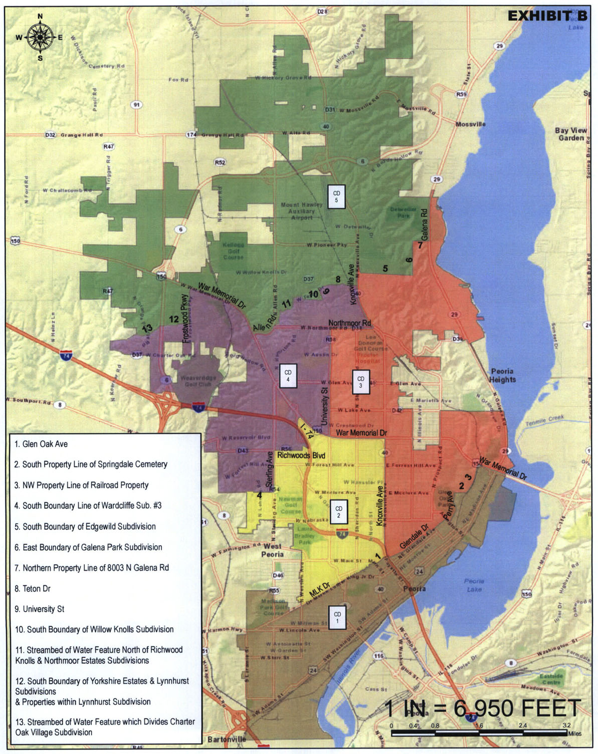 Peoria ILCity Map Submited Images