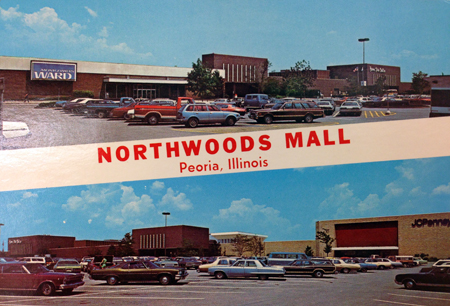 1978 postcard advertising Northwoods Mall