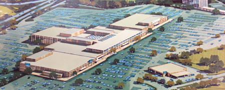 Artist's rendering of Northwoods Mall from 1971 promotional material